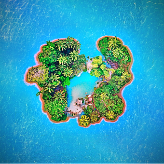 Island, Sea, Holiday, Beach, Summer, Heat, Recovery
