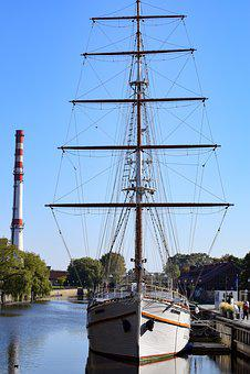 Boat, Sailing Ship, Meridiana, Klaipeda, Lithuania
