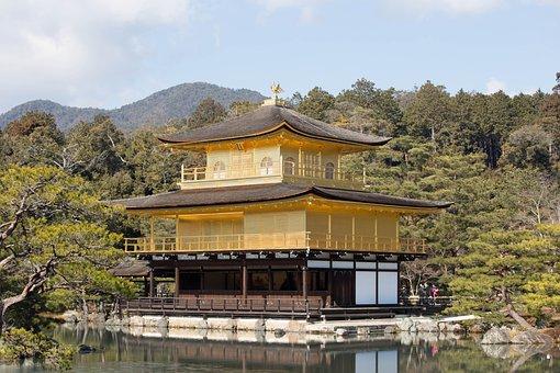 Japan, Temple Of The Golden Pavilion, Kyoto