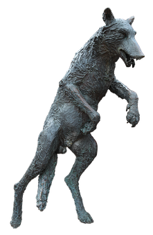 Wolf, Bronze, Sculpture, Marketplace, Wolf Hagen