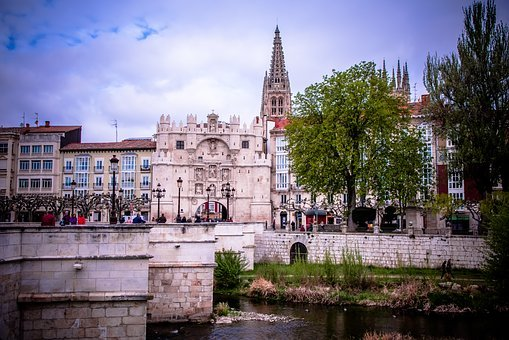 Burgos, Gate, Old, Architecture, Building, Entrance