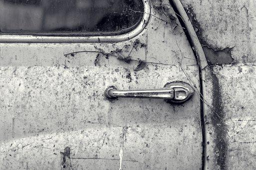 Car, Door, Handle, Transport, Corroded, Rusted, Old