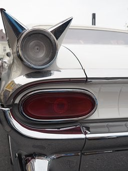 Oldtimer, Us Car, Tailfin, Classic, American, Auto, Usa