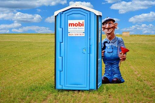 Plumber, Work, Dixi, Toilet, Dixi Loo, Mobile Toilet
