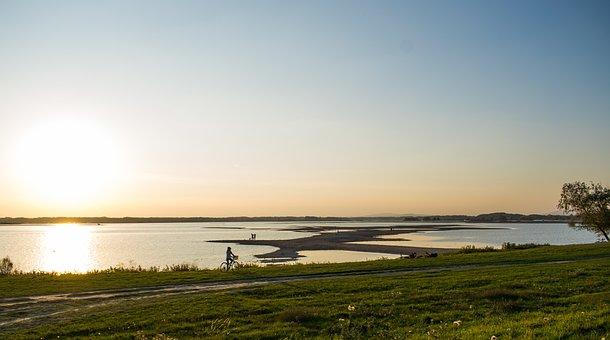 Sun, Slnko, The Danube, Riek, River, Zlaté Piesky