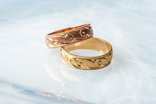 Ring, Rings, Gold, Rose Gold, Wedding, Commitment