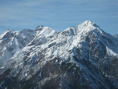 Mountains, Snow Landscape, Wintry, Mountain Landscape