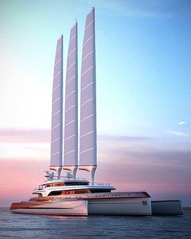 Trimaran, Super Trimaran, Superyacht, Luxury, Yacht