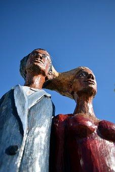 Figures, Wood, Carving, Hand Carved, Art, Holzfigur