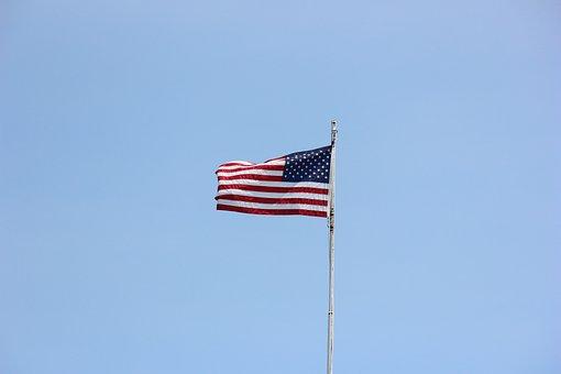 Flag, Waving, American, Patriotic, American Flag Waving