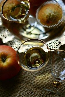 Apple, Appel Grain, Apple Grain, Alcohol, Glasses