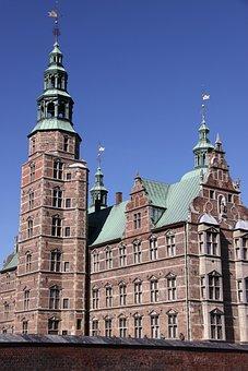 Rosenborg, Castle, Towers, Copper, Take, Rococo
