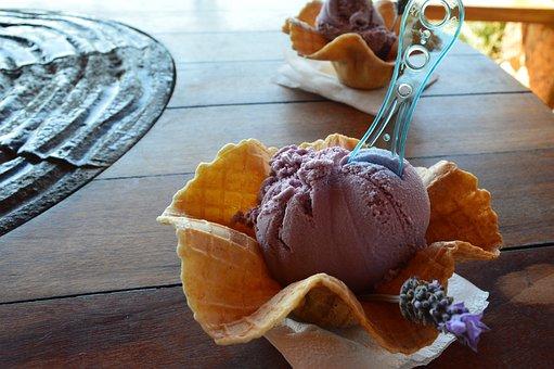 Ice Cream, Ice Cream Lavender, Delights, Delicious