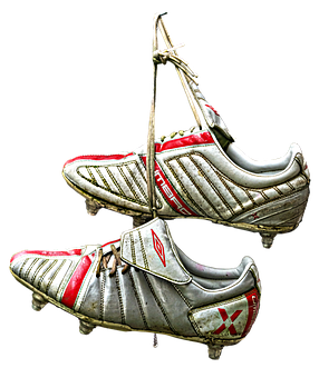 Football Boots, Shoes, Hung, On A Nail Hung, Nail