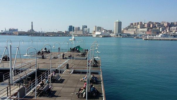 Genoa, Pier, Sea, Liguria, Porto