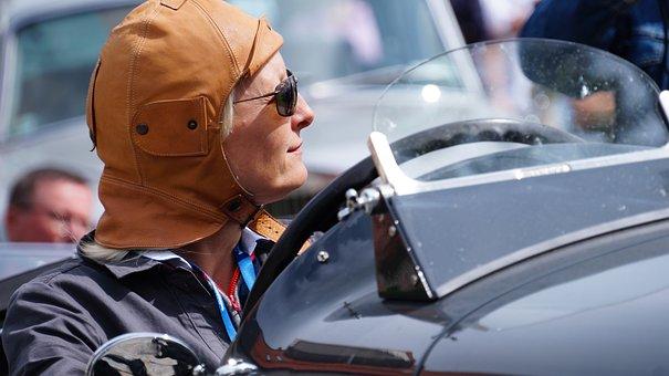 Meeting, Oldtimer, Pilot, Glasses, Car, Old Auto