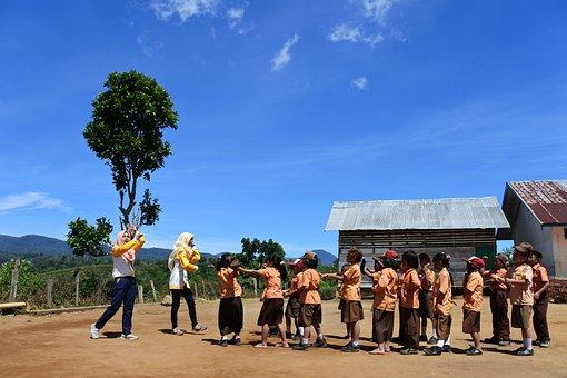 Students, Teachers, Indonesian, Children, Kids, Group