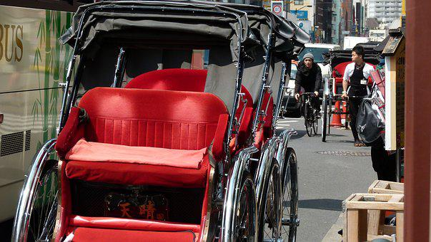 Japan, Tokyo, Japanese, Calm, Jinrikisha, Rickshaw