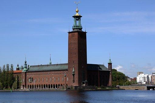 Stockholm, Museum, Stadshuset Building, Architecture