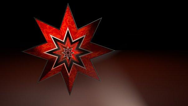 Star, Poinsettia, Background, Christmas Decoration