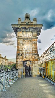 Moscow, Andreevsky Bridge, Pushkinsky Bridge