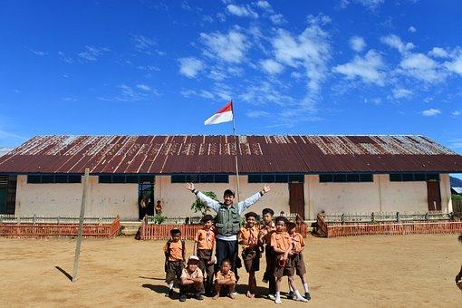 Happy, School, Student, Teacher, Education, Elementary