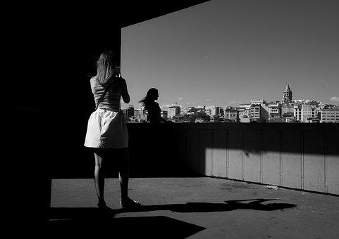 Galata, Women's, Shadow, Reverse Light, Black And White