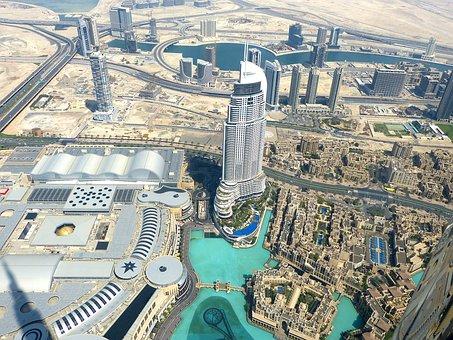 Uae, Dubai, Burj Khalifa, Skyscraper