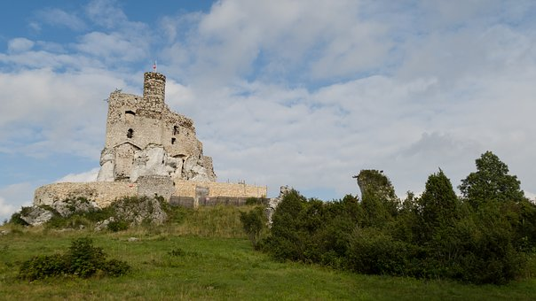 Castle, The Ruins Of The, The Walls, Monument, History