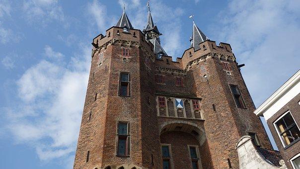 City gate, Town, Hanseatic City, Defensive Work