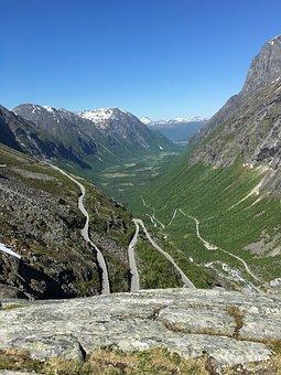 Trollstigen, Troll Road, Norway, Road, Travel, Nature