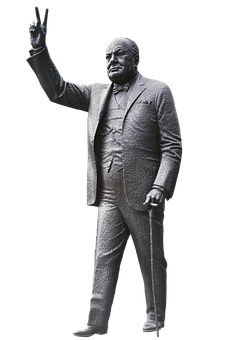 Churchill, Winston Churchill, Figure, Sculpture, Art