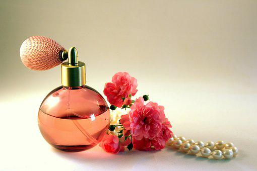 Bottle, Perfume, Roses, Fragrance, Still Life