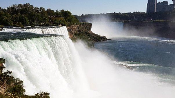 Waterfall, Giant Waterfall, Niagara Falls, Canada
