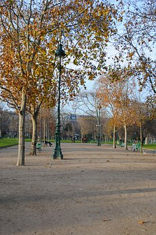 Autumn, Paris, Park, Stroll, Center, Architecture