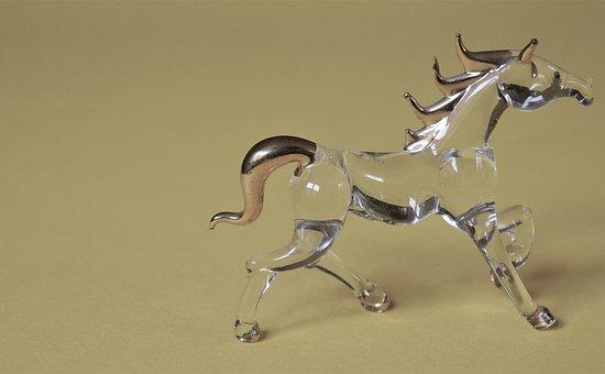 Glass Figurines, Figure, Horse, Mystical, Fantasy
