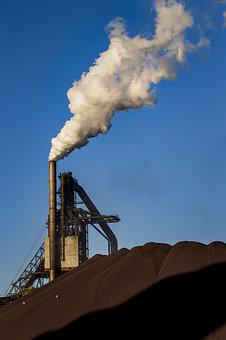 Industrial, Stack, Smoke, Pipe, Steam, Industry