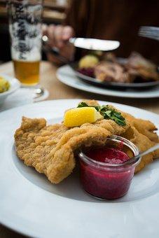 Schnitzel, Wiener Schnitzel, Viennese Kind, Lemon, Meal