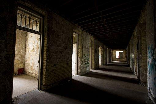 Scary, Hallway, Ruins, Abandoned, Dark, Corridor, Old