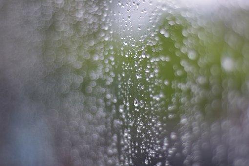 Drops Of Water, Rain, Waterfall, The Rainy Season