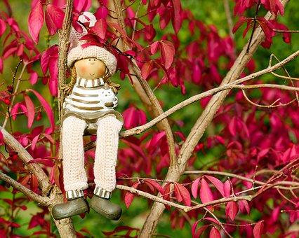 Doll Figure, Figure, Girl, Sit, Rest, Relax, Dreamy