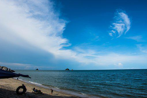 Sea, Sky, Twilight, Seaside, Sea Water, Beach, Holidays