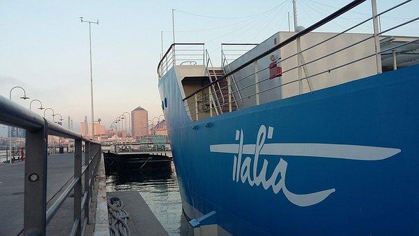 Ship, Italy, Genoa