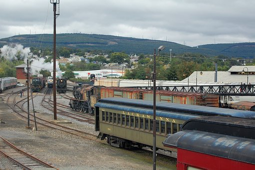 Train Yard, Transportation, Train Museum, Transport