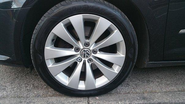 Alloy Rim, Vw Wheel, Tyre