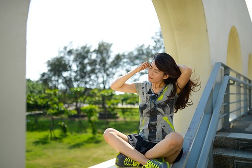 Travel, Asian Woman, Wind Blowing