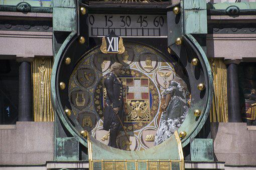 Vienna, Clock, Building, Architecture, Clock Face