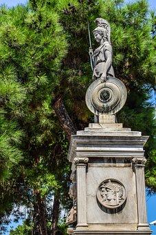 Athena, Greek, Goddess, Monument, Classic, Sculpture