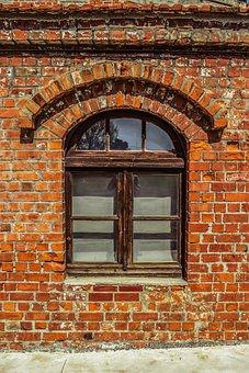 Window, Factory, Brick, Industrial, Building