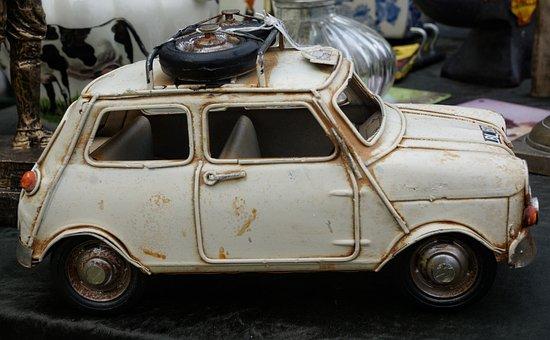 Old, Collectors, Mini, Rally, Car, White